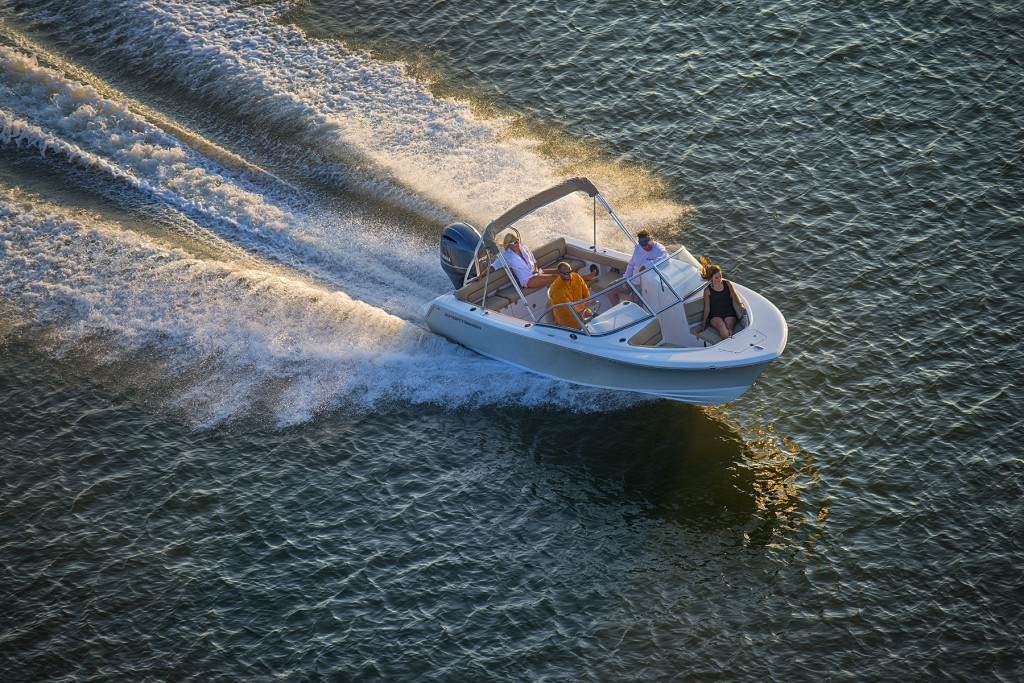 Aerial Photography over Charleston Harbor during a Sportsman Boats shoot for Catch Multimedia