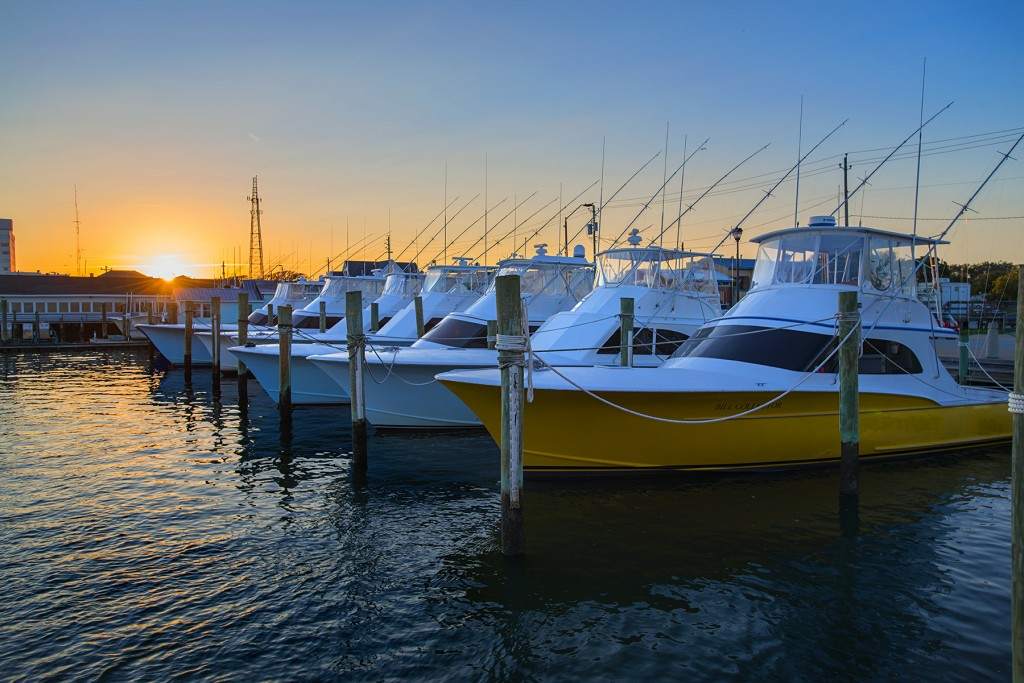 The offshore fleet at Morehead City, NC for Calcutta Fishing